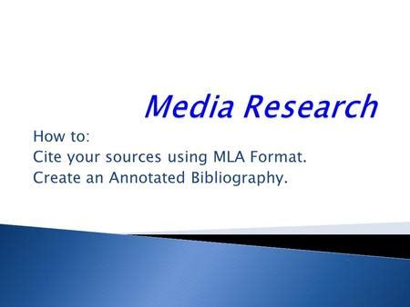 How to do annotated bibliography apa